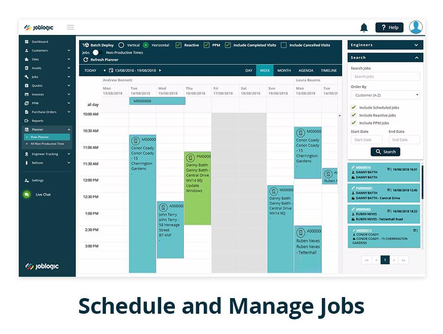 JobLogic Software - Schedule jobs