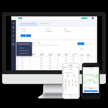 InnBuilt HRMS screenshot: Web and Mobile based Attendance & Leave management