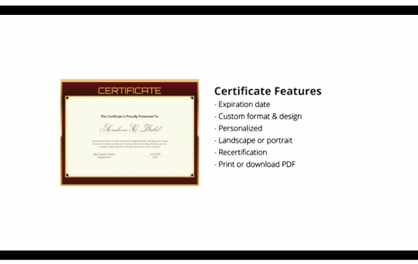Expo Logic's LMS offers certification features