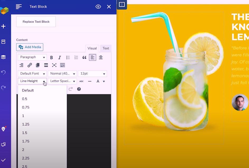 Visual Composer edit text