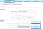 Capture d'écran pour Jackrabbit Care : Jackrabbit My Account tab allows to fill basic user details