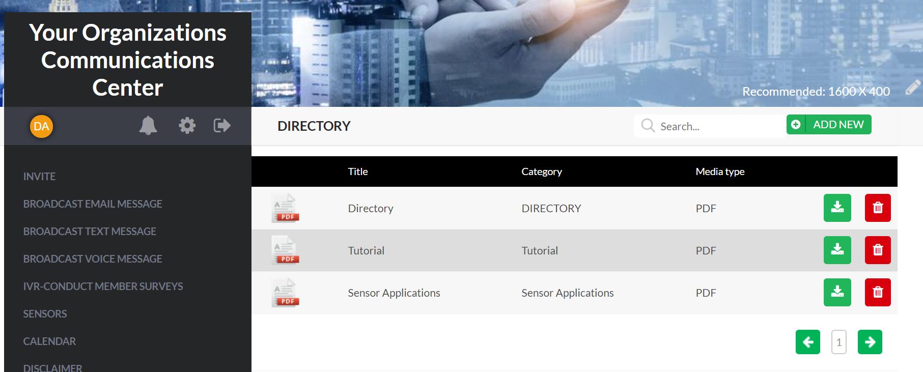 Communication Centers document management