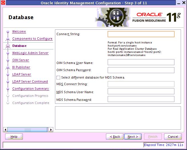 Oracle Identity Management database information