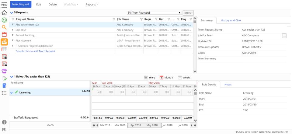 Retain Resource Planning Software - 3