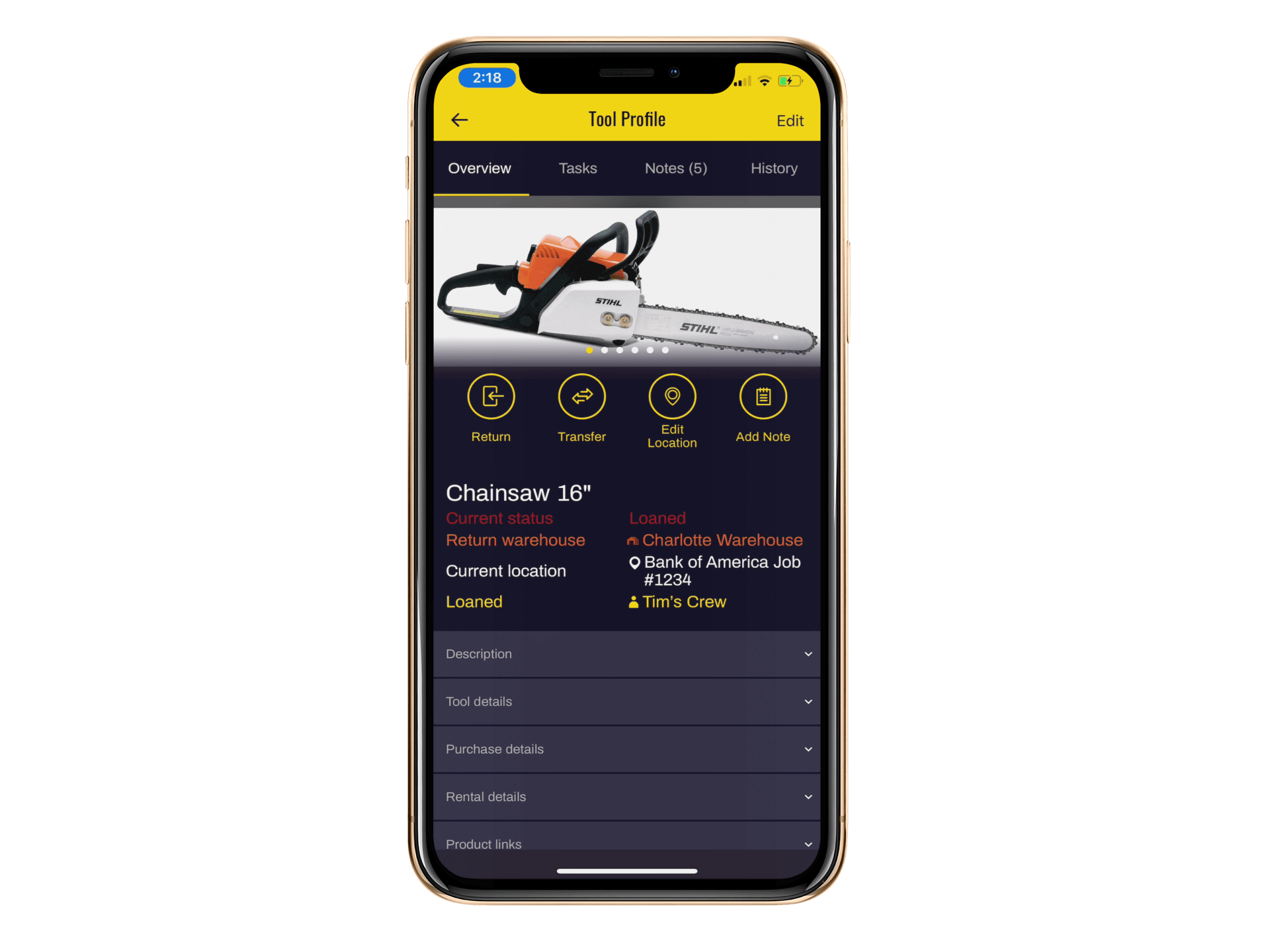 All tool details are available on mobile devices. Whether an Apple or Android phone or tablet, all tool information will be easy to find.