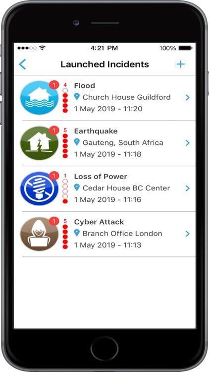 Crises Control Software - Crises Control launched incidents