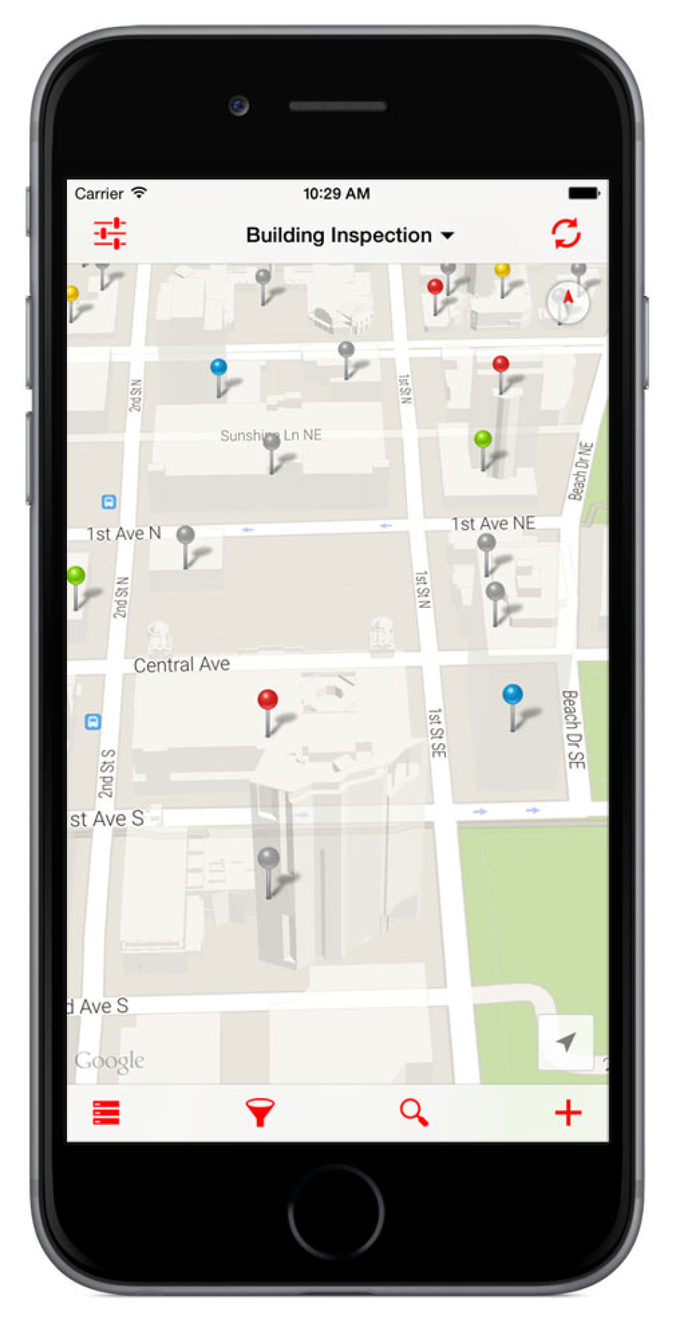 All data captured is automatically tagged with GPS locations for mapping