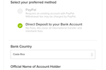 AnyRoad screenshot: Accept international payments