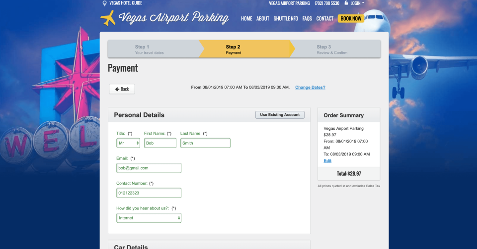 ParkAlto screenshot: Your Booking & Marketing Website