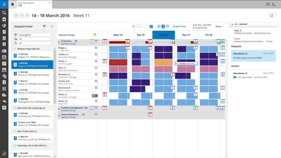 TOPdesk plan board