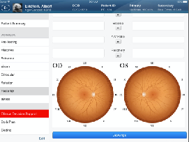 EyePegasusEHR Software - Mobile view
