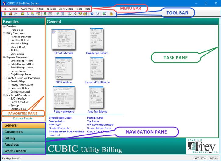 CUBIC home screen