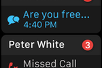 RingCentral Office screenshot: Apple Watch missed call notifications