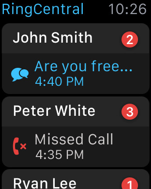 Apple Watch missed call notifications