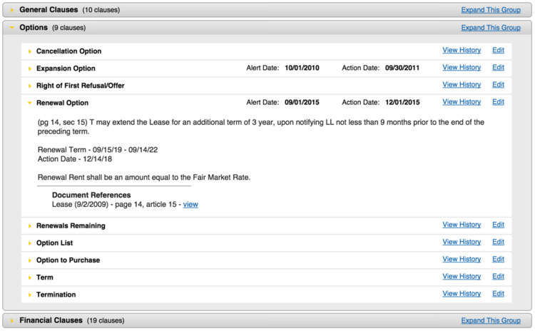 Users can configure their own clause fields in Visual Lease to suit different contracts
