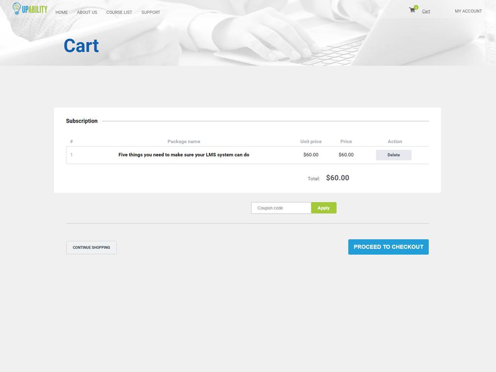 UpAbility Software - Ecommerce capabilities