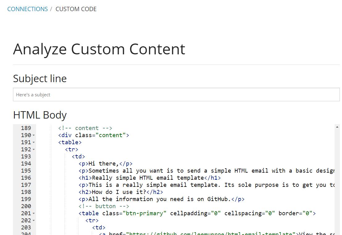Winning Email Software - Custom code