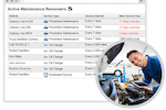 Linxup screenshot: Track maintenance schedules with Linxup's built-in maintenance management system