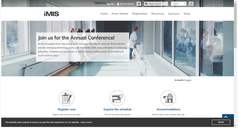 iMIS Software - Sample Website