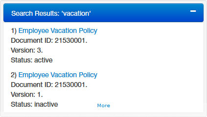 DynamicPolicy search results screenshot