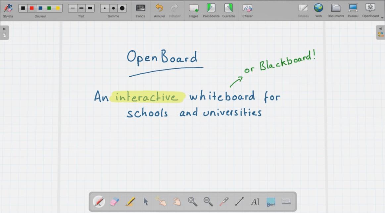 OpenBoard main dashboard