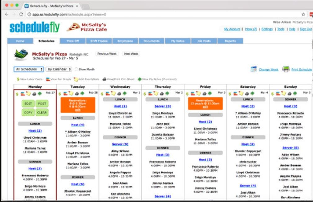 Schedulefly Software - Schedulefly schedules