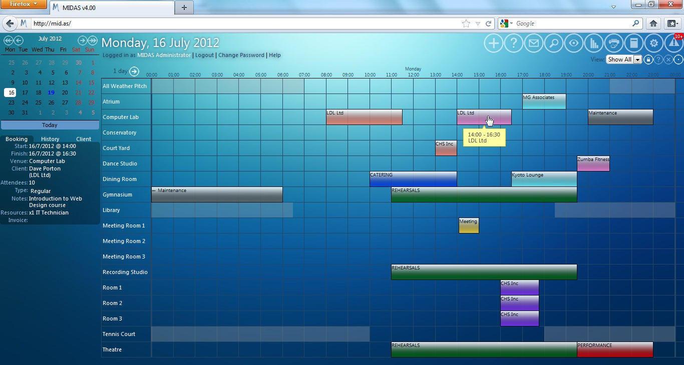 MIDAS Software - Calendar