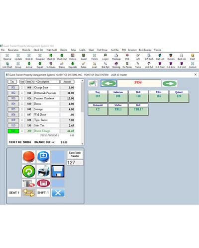 GuestTracker screenshot: Guest Tracker point of sale system