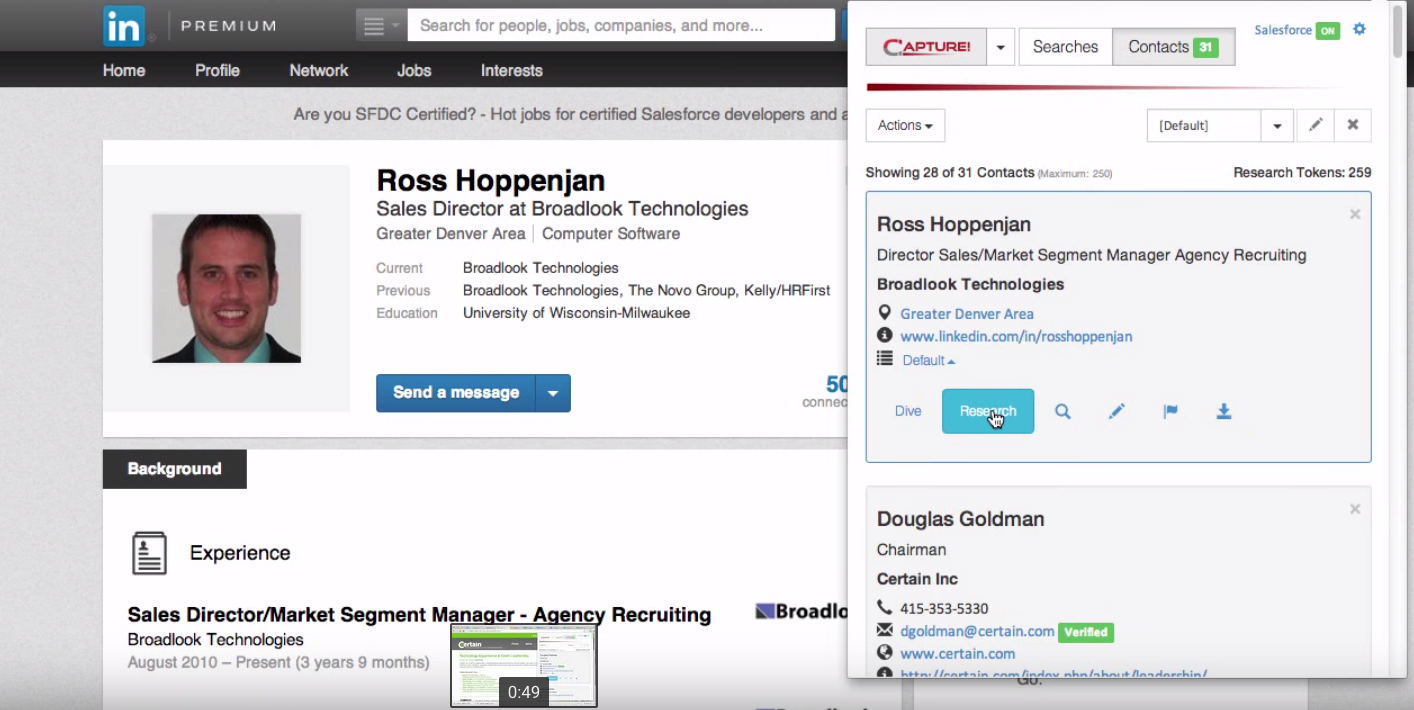 Capture can work with structured sites such as social networks