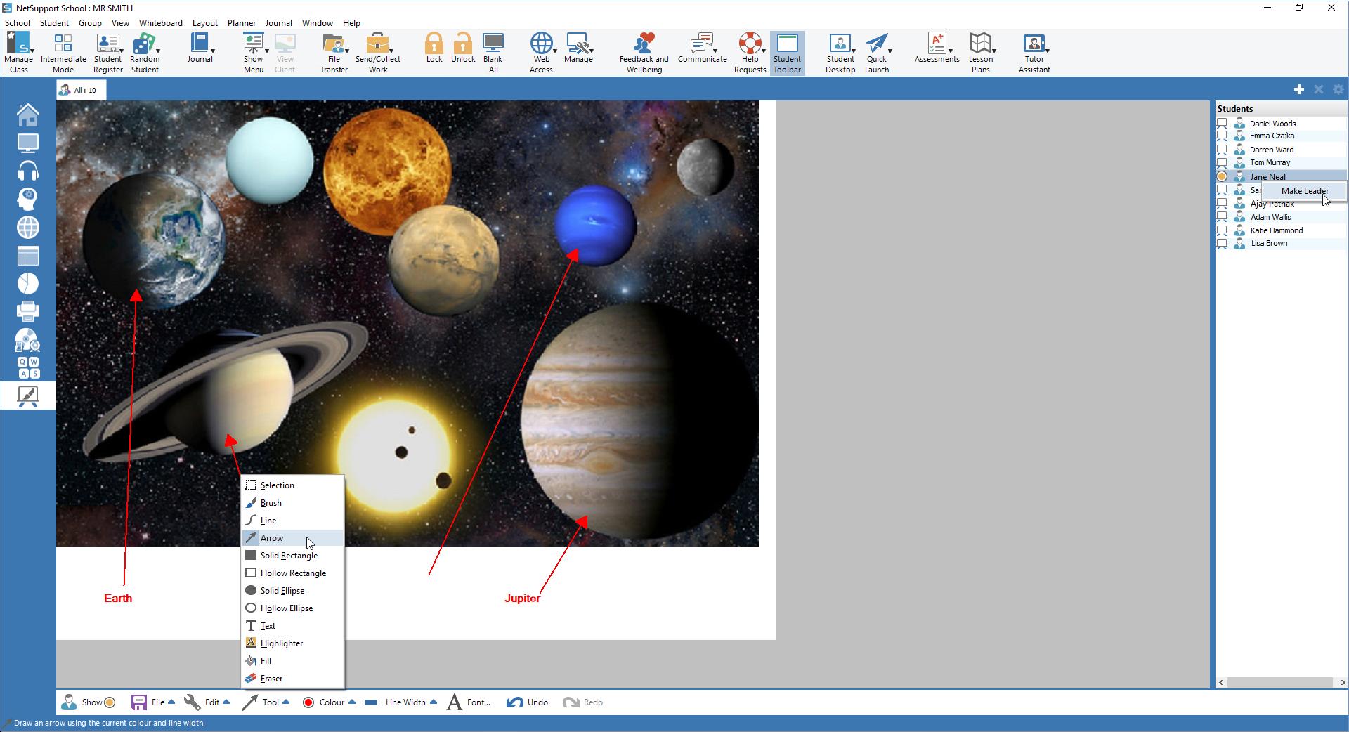 NetSupport School Software - NetSupport School - Virtual Whiteboard