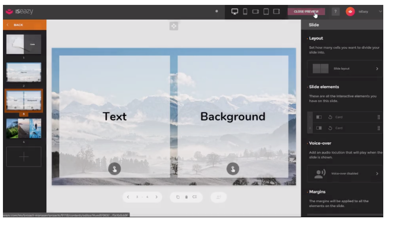 Users can personalize the background and spacing between elements to create their own styled background