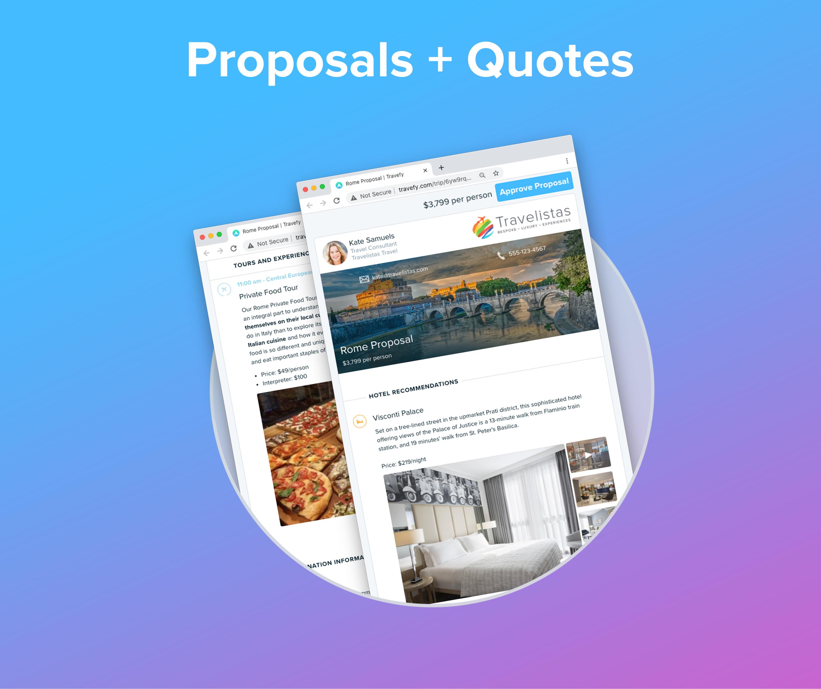 Proposals + Quotes