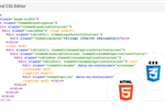 Zoho Sites screenshot: An advanced HTML / CSS editor is included in Zoho Sites
