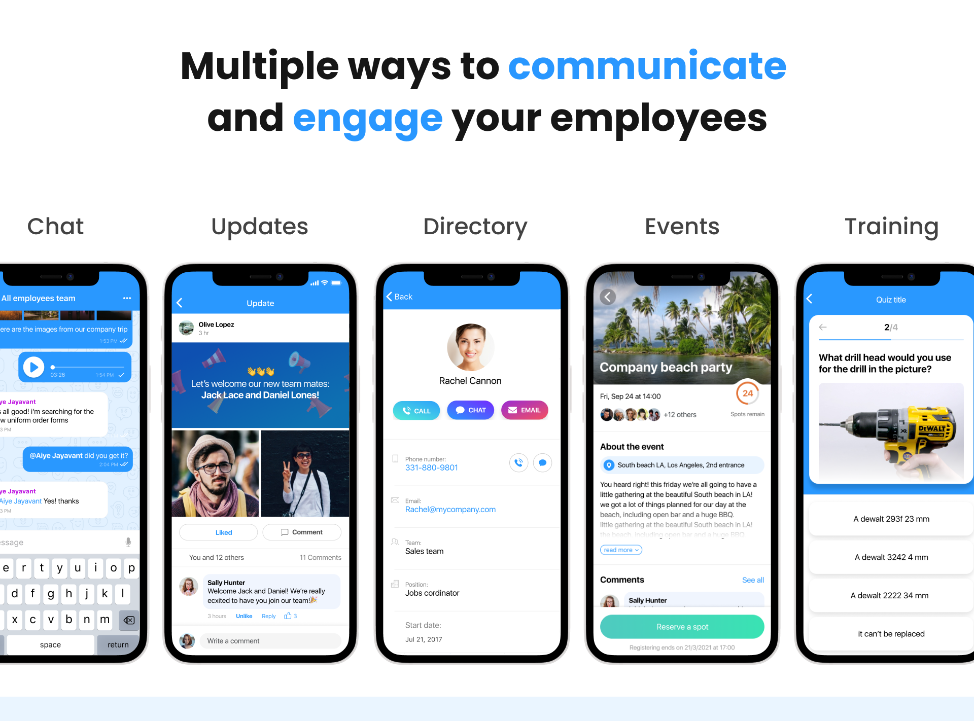 Connecteam Software - Multiple ways to communicate and engage your employees