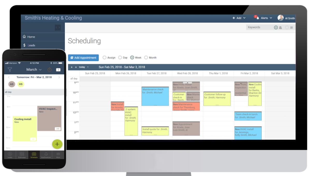 mHelpDesk Software - Scheduling