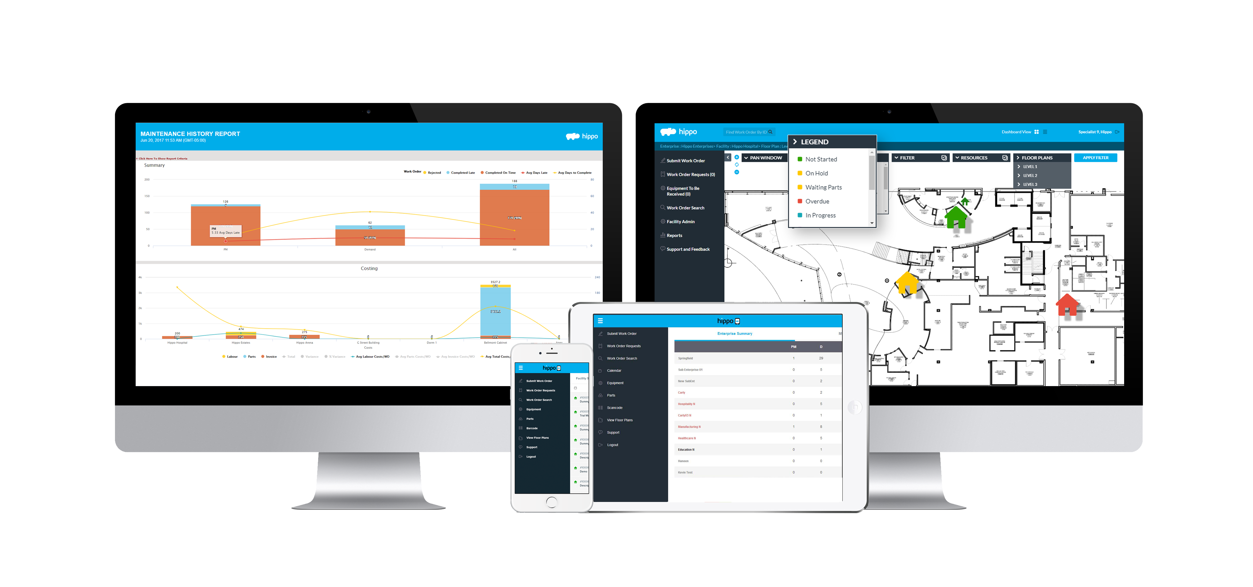 Hippo CMMS Software - Simple User Interface