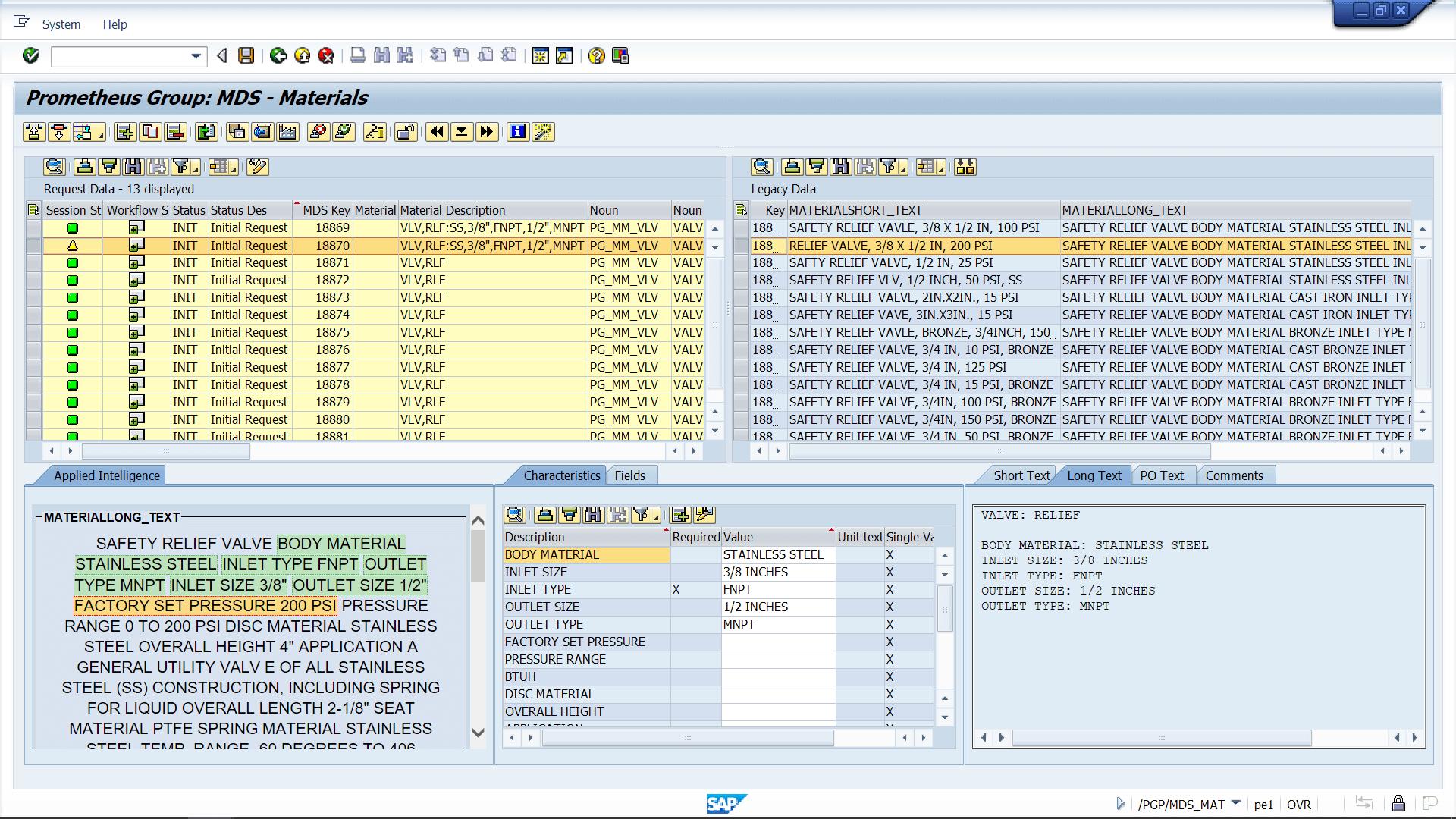 Prometheus Platform data governance dashboard