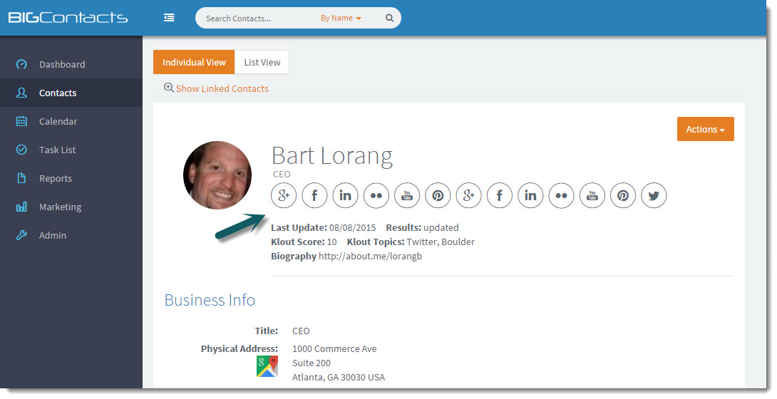 Automatically update social profile information using over 100 different sources