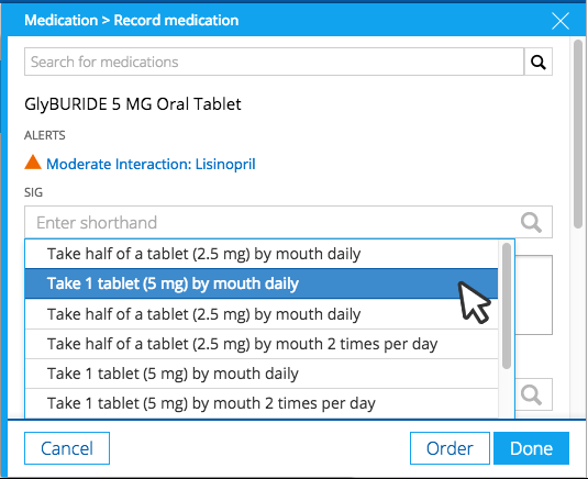 Practice Fusion enables sending e-prescriptions instantly from patient's chart