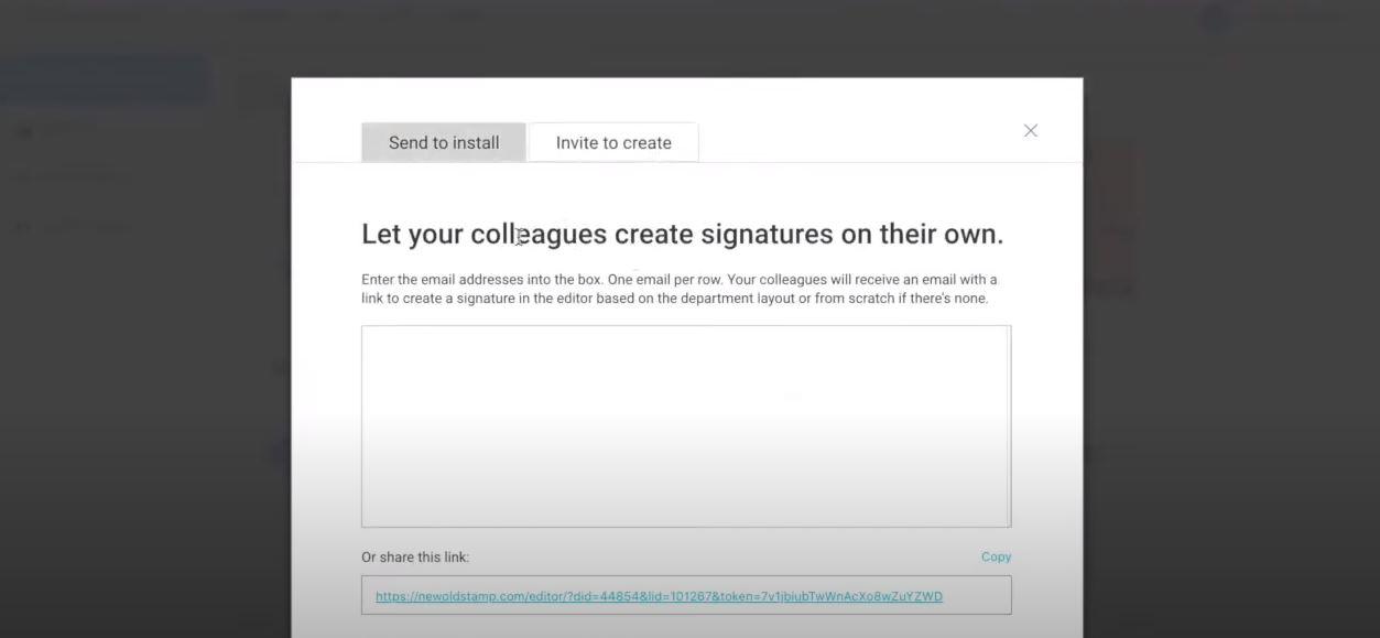 Newoldstamp send links to install signature