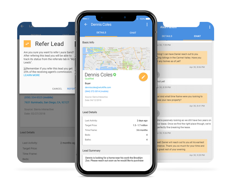 Verse.io's lead response & follow-up solution utilizes trained concierges to immediately reach out to and nurture newly-generated real estate leads