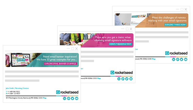 Rocketseed Email Signatures Software - Professionally branded email signatures