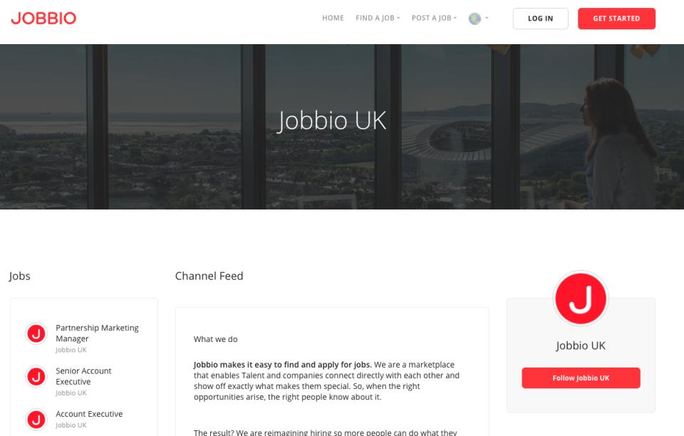 Jobbio channel feed