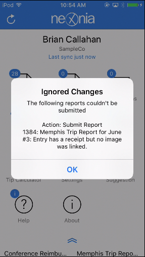 Policy violations are clearly presented in both desktop and mobile app