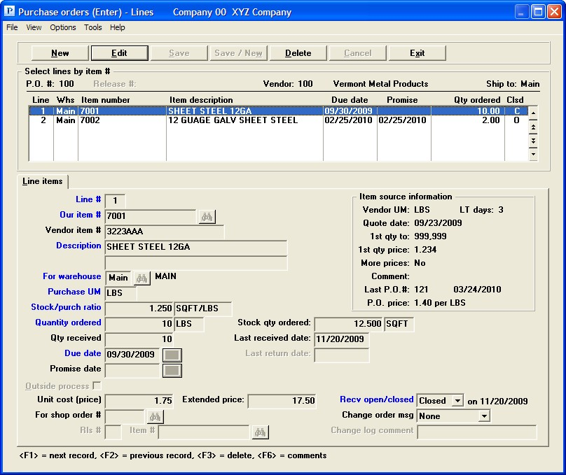 PBS Accounting Software - Blanket POs and vendor sourcing