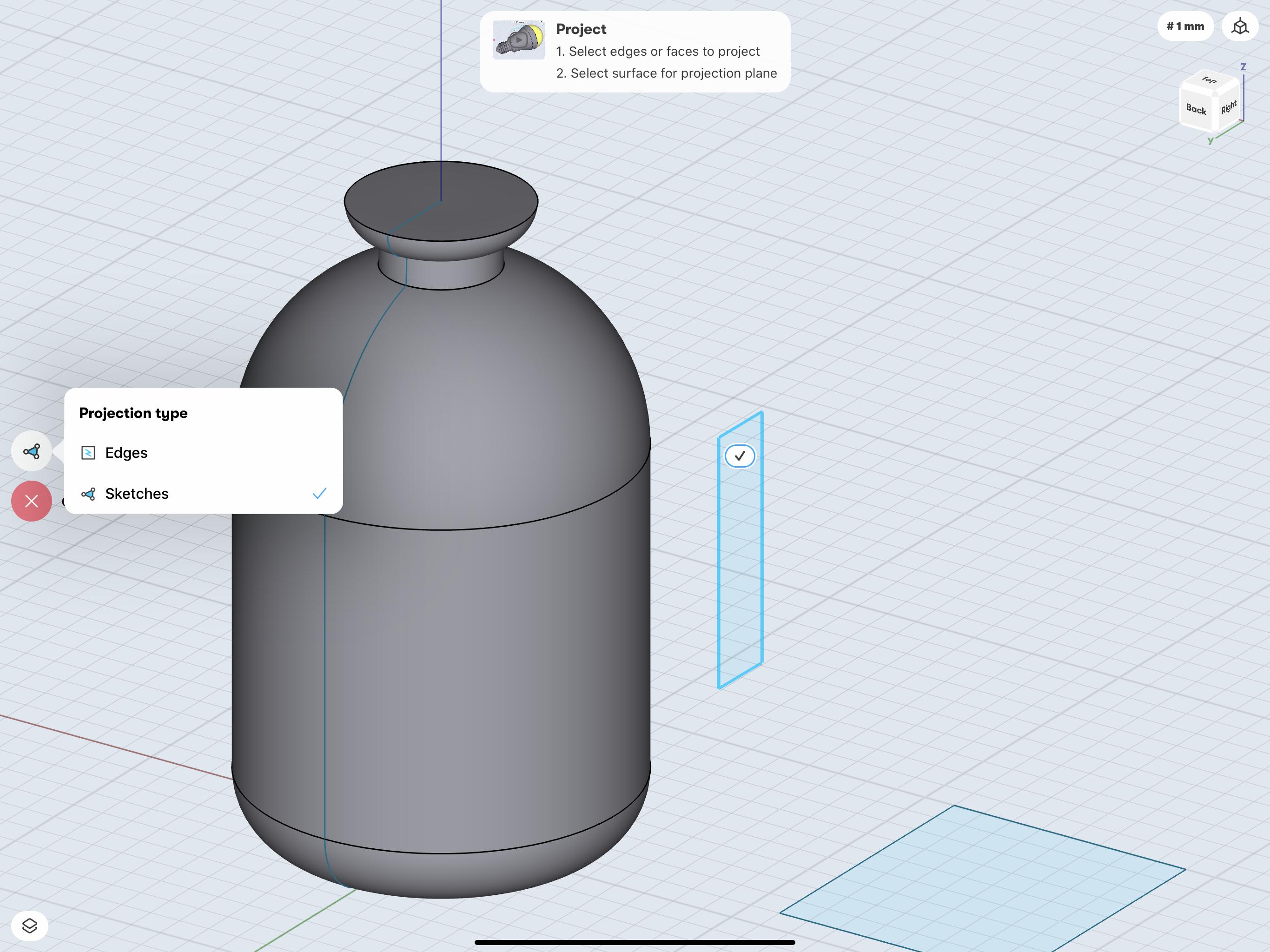 Shapr3D project tool