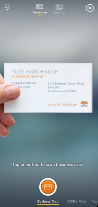 atEvent Software - atEvent scan business cards