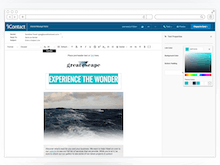 iContact Software - Build a custom layout or choose a design from the customizable template library