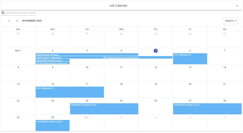 Resources Schedule