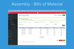 Unleashed screenshot: Assembly Bill of Materials